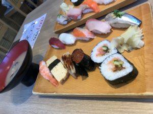 築地日本海赤羽店のお寿司ランチ