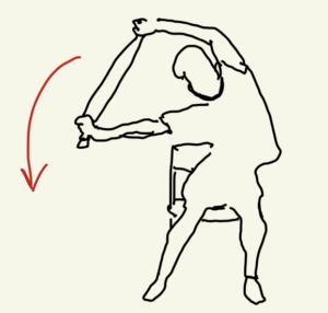 背中と腰回りを伸ばすストレッチ