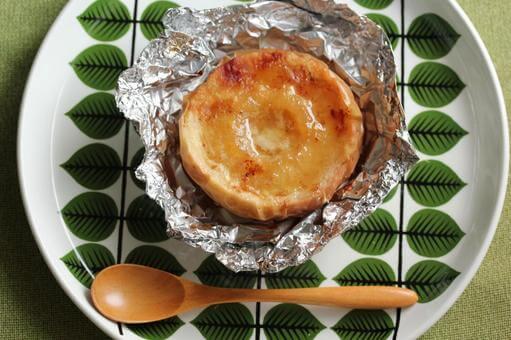 焼きりんごとヨーグルトの朝スイーツ