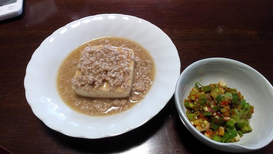 丸ごと豆腐の豚そぼろ煮